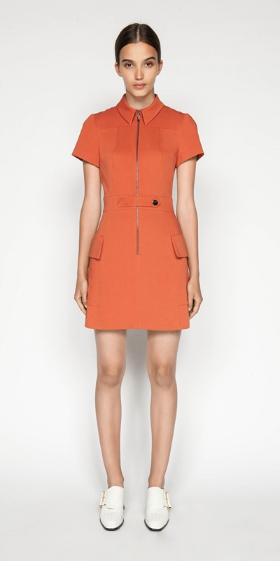 Made in Australia | Zip Front Utility Dress