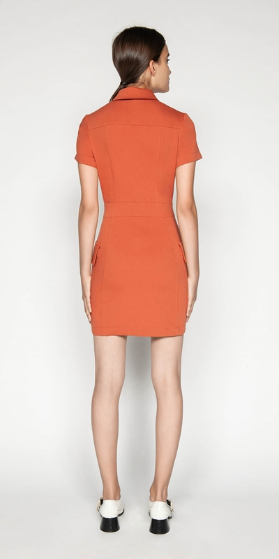 Dresses | Zip Front Utility Dress