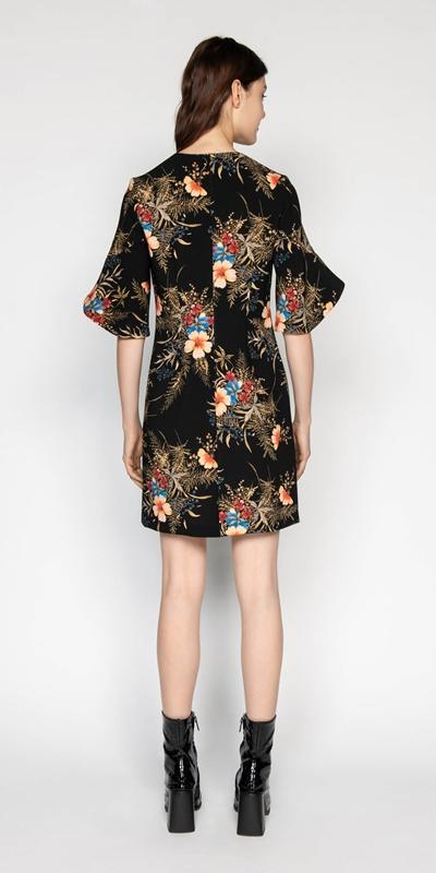 Dresses | Midnight Floral Split Sleeve Dress