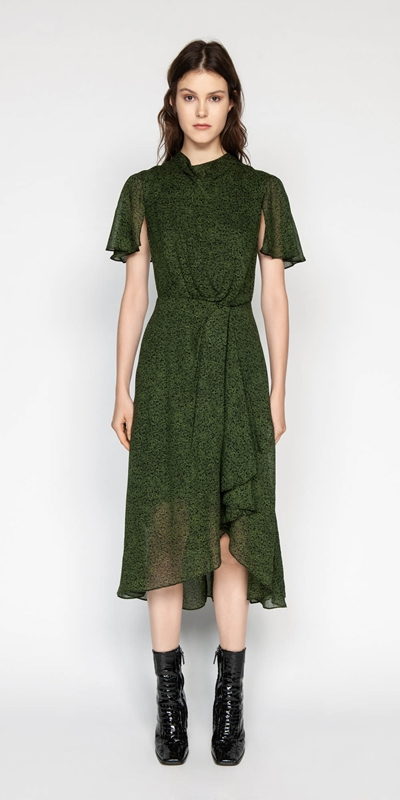 Made in Australia | Python Draped Waist Dress