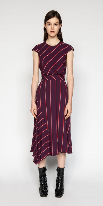 Dresses | Bold Stripe Midi Dress