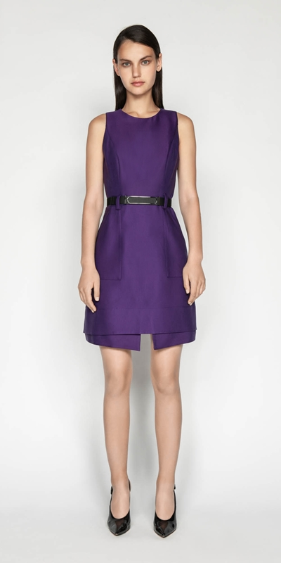 Dresses | Belted A-Line Dress