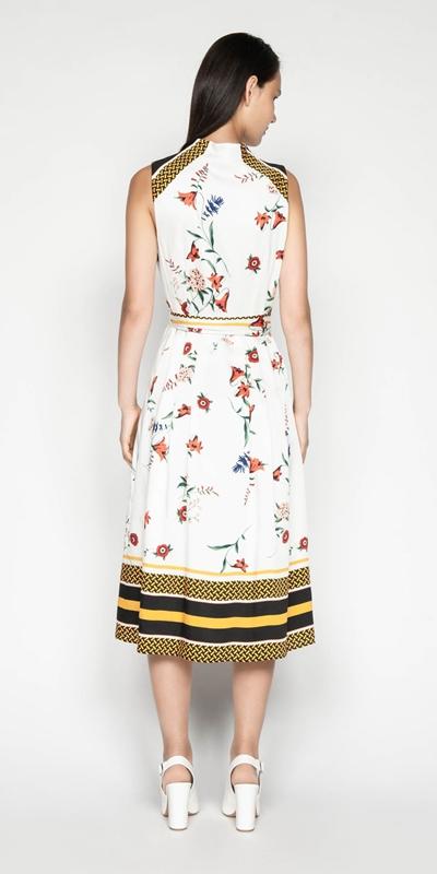 Dresses | Scarf Print Midi Dress