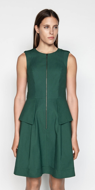 Sale  | Mini Pique Peplum Dress