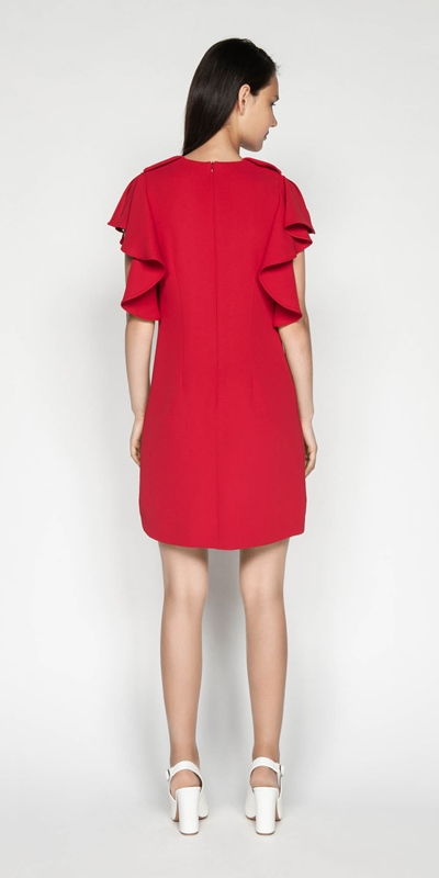 Dresses | Waterfall Frill Sleeve Dress