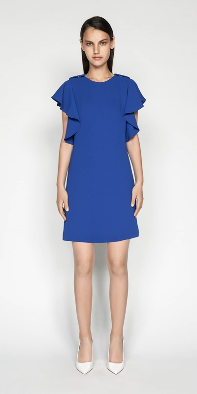 Dresses | Waterfall Frill Sleeve Dress