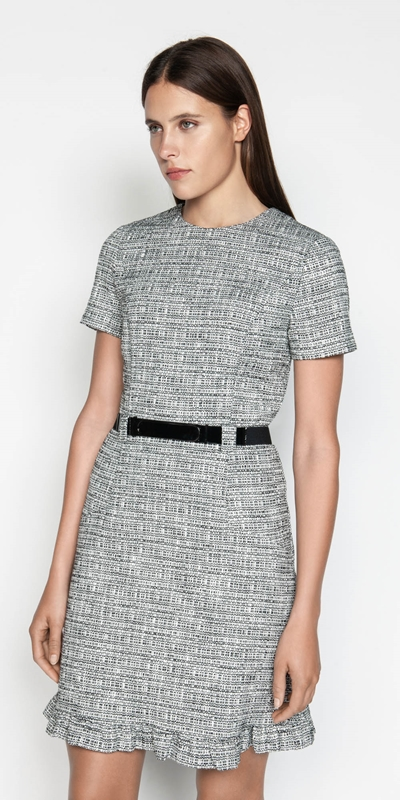 Dresses | Cotton Tweed Belted Dress