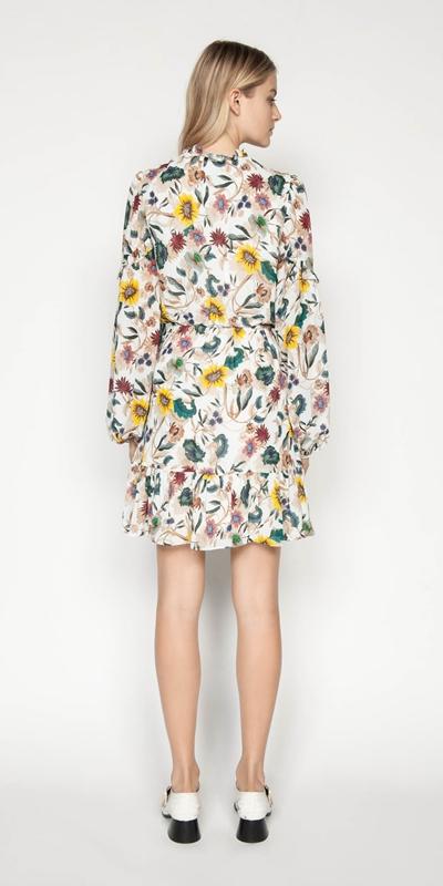 Dresses | Vivid Floral Frill Dress