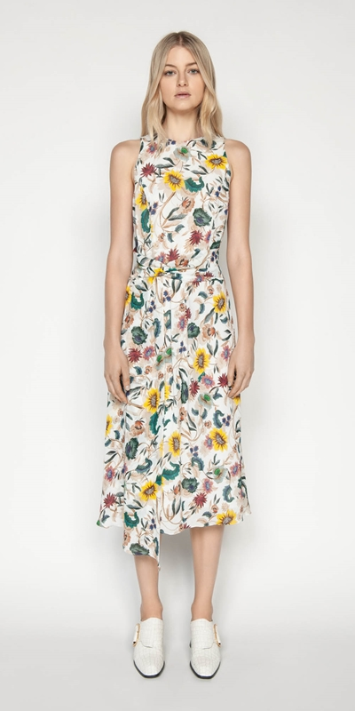 Dresses | Vivid Floral Twist Front Dress