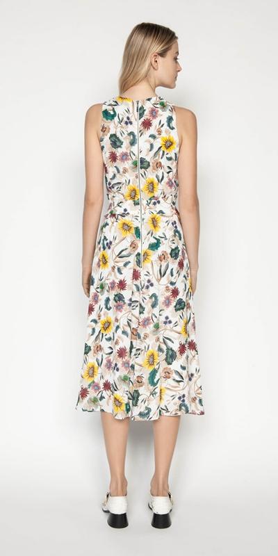 Dresses | Vivid Floral Twist Front Dress