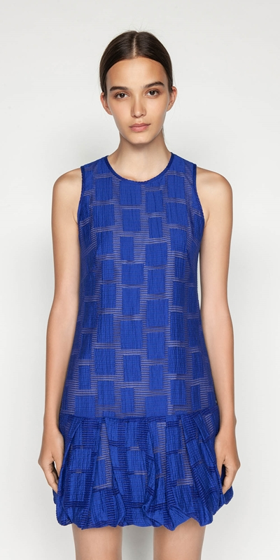 Made in Australia  | Burnout Jacquard Trapeze Dress