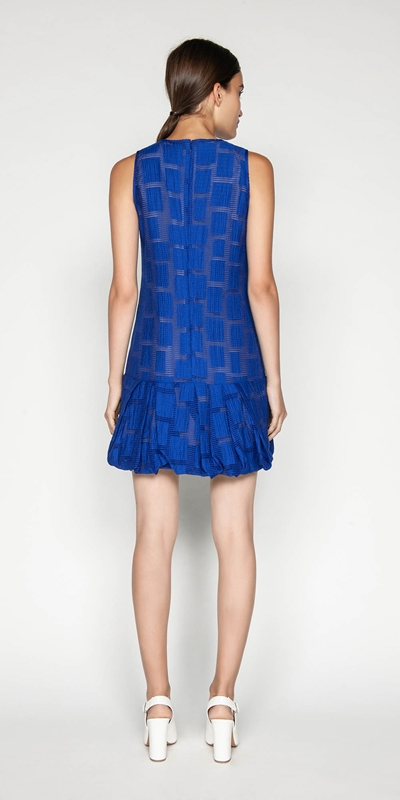 Dresses   Burnout Jacquard Trapeze Dress