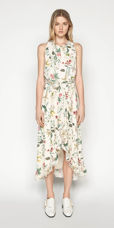 Dresses | Illustrated Botanic Midi Dress