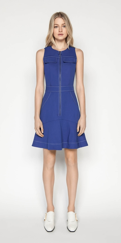 Dresses | Cobalt Zip Front Dress