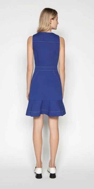 Dresses | Cobalt Zip Front Dress