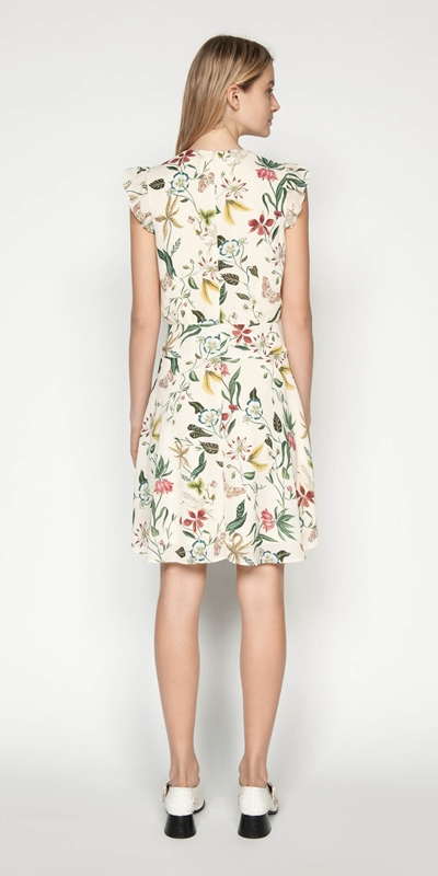 Dresses | Illustrated Botanic Frilled Dress