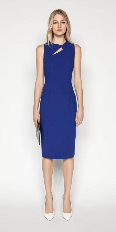 Wear to Work | Asymmetric Keyhole Pencil Dress