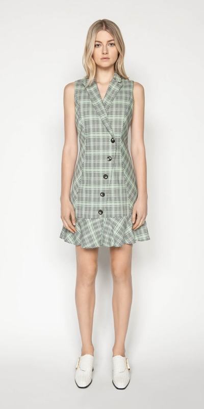 Dresses | Check Button Front Dress