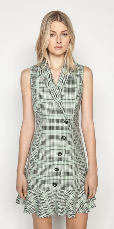 Made in Australia  | Check Button Front Dress