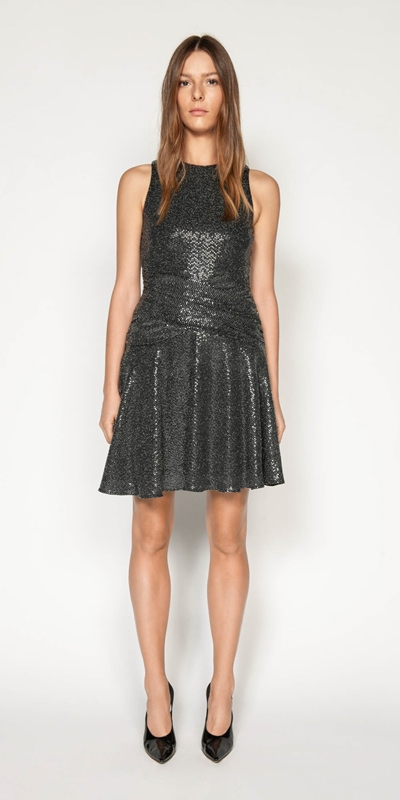 Made in Australia | Lurex Sequin Knit Dress