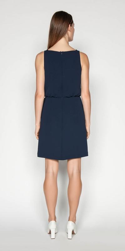 Dresses | Crepe Tie Waist Dress