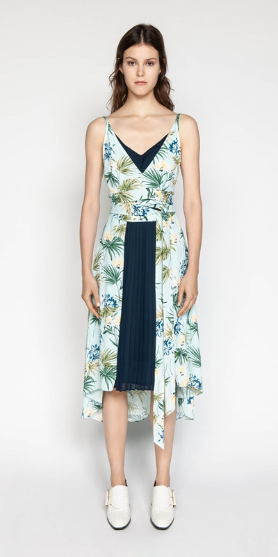Outlet | Tropical Georgette Dress