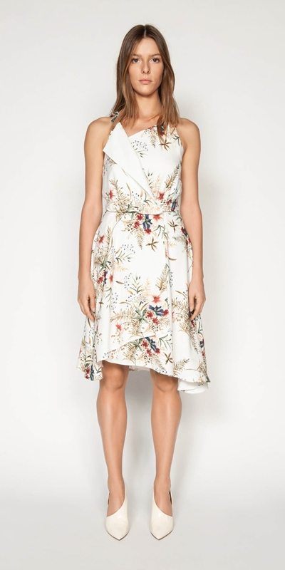 Dresses | Illustrated Floral Wrap Dress