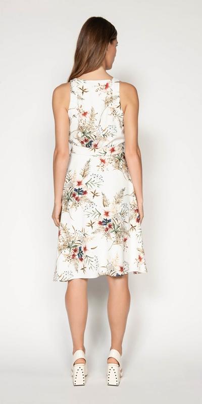 Dresses | Illustrated Floral Wrap Dress