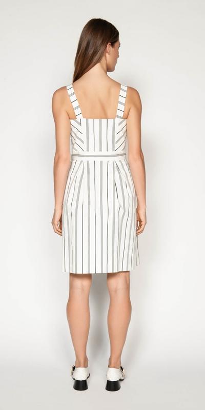 Dresses | Bold Stripe Button Front Dress