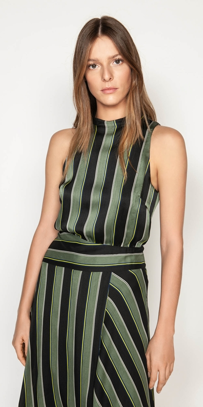 Dresses  | Highlight Stripe Midi Dress