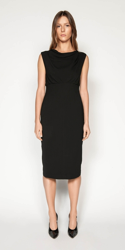 Dresses | Cowl Neck Pencil Dress