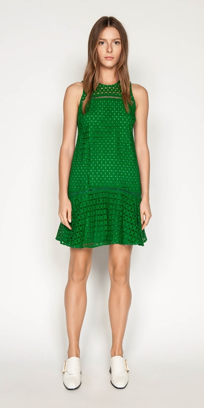 Dresses | Geometric Broderie Trapeze Dress