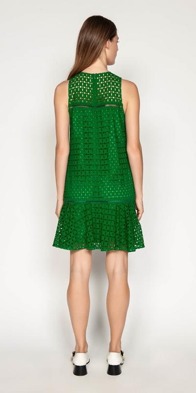 Dresses | Geometric Broderie Trapeze Dress
