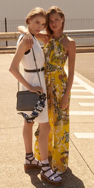 Dresses   Linen Collared Wrap Front Dress