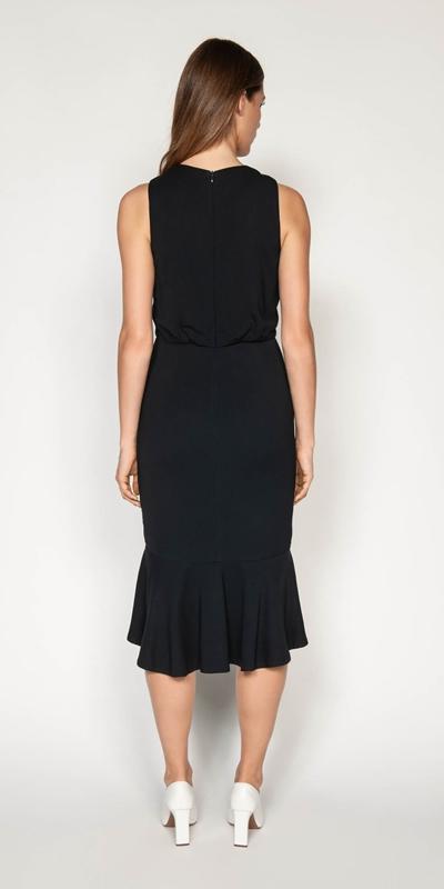 Dresses | Fluted Hem Midi Dress