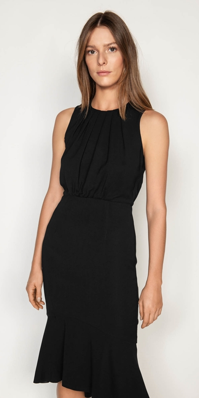 Wear to Work  | Fluted Hem Midi Dress