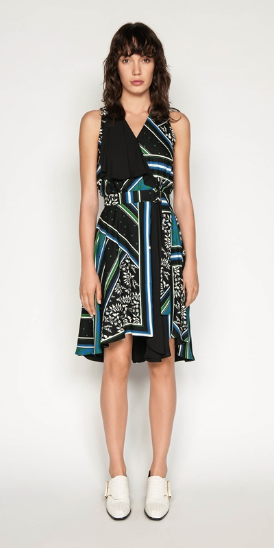 Dresses | Scarf Print Wrap Dress