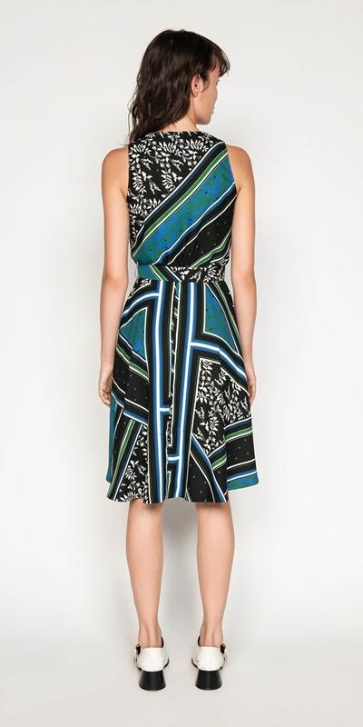 Dresses   Scarf Print Wrap Dress