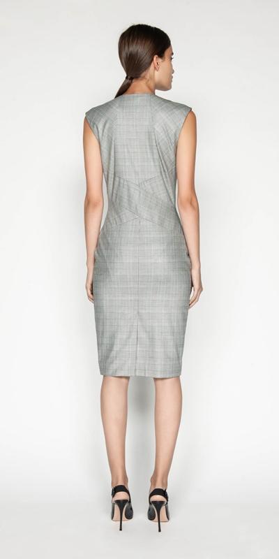 Dresses | Highlight Check Pencil Dress