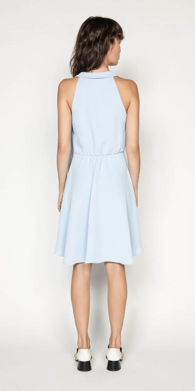Dresses | Asymmetric Draped Halter Neck Dress