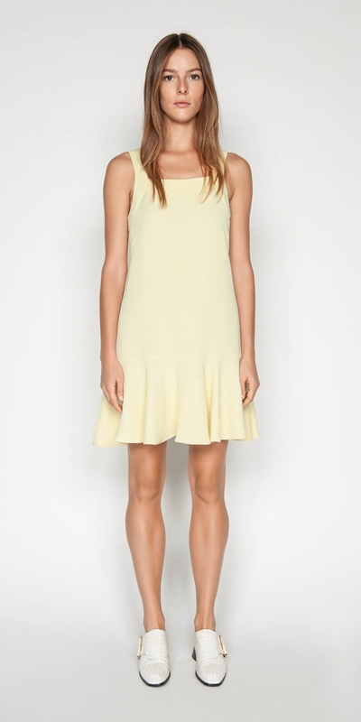 Sale | Crepe Trapeze Dress