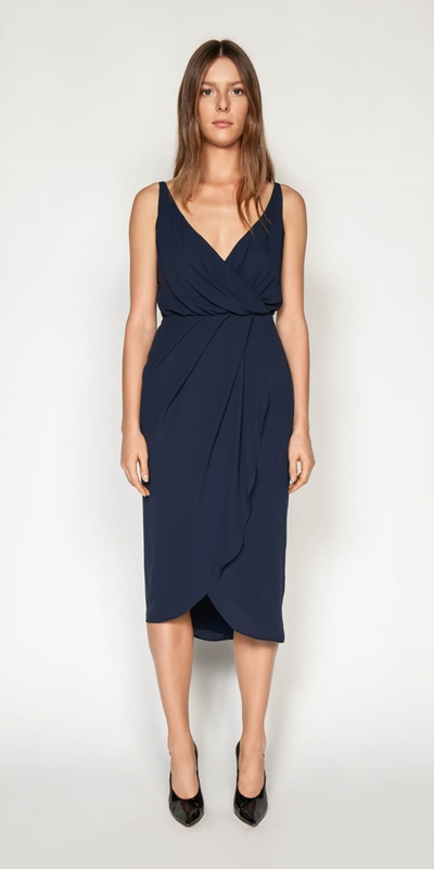 Dresses | Draped Tuck Wrap Dress
