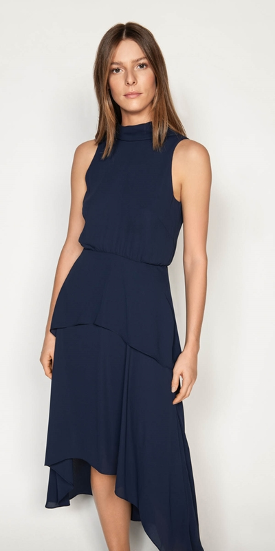 Dresses | Draped Tie Back Midi Dress
