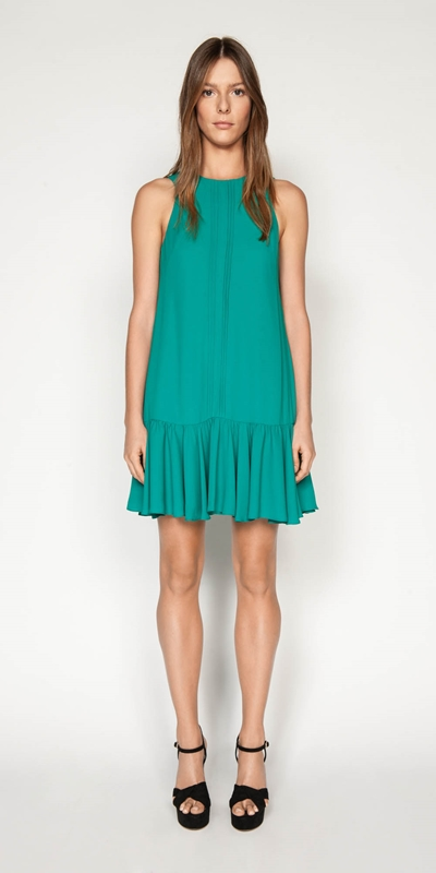 Dresses | Frilled Hem Mini Dress