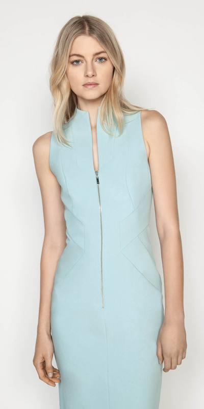 Dresses | Zip Front Midi Dress