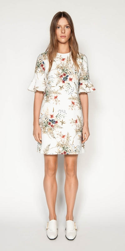 Dresses | Illustrated Floral Shift Dress
