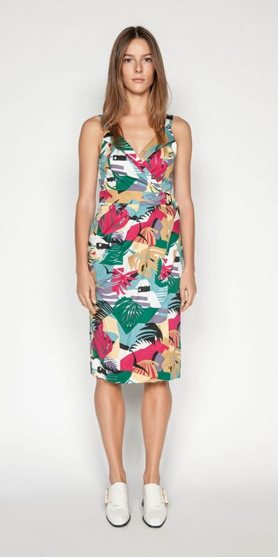 Dresses | Graphic Island Wrap Dress
