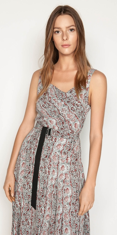 Dresses | Python Cowl Neck Dress