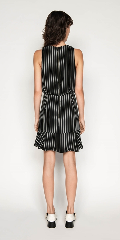 Dresses | Striped Ruched Waist Dress