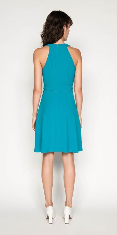 Dresses   Crepe Halter Neck Dress